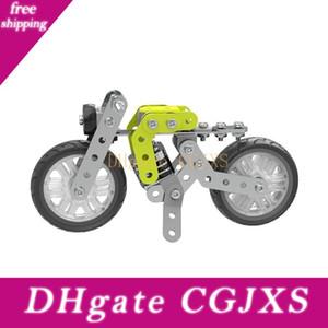 120pcs Diy Stainless Steel Retro Motorcycle Puzzle Toy Building Kits Metal Motor Bike Car Models Creative Toys