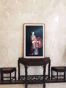 Cgjxs originale de luxe de haute qualité à distance Control App 32 pouces Peinture à l'huile moderne Accueil dynamique Peinture décorative commutateur statique Affichage Scr