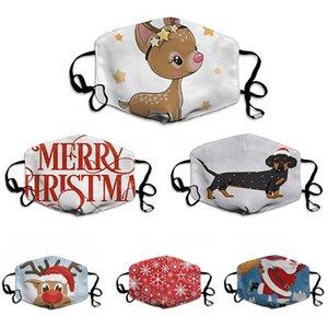 Masques de protection Imprimé Lavable Noël Safet antipoussière Haze Réutilisable Masques ajustables et poussière Smog Masques Visage