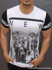 NEW YORK Letters Mens T shirts Summer Fashion Short Sleeved Tops O-neck Printed Tops Tees