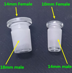 10 mm femelle 14mm mâle convertisseur adaptateur en verre pour le verre bong quartz Banger bol en verre 14mm à 18mm mâle Réducteur Connecteur