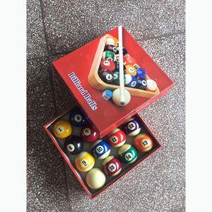 Pool Table Billiard Ball Set 57mm, Art Number Style 6 oz Pool Balls Beautiful Gift 16Pieces Box