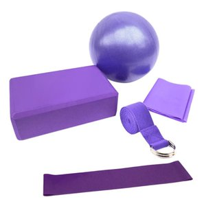 5pcs Yoga Attrezzatura Set con lo yoga blocchi sfera stretching cinghia di resistenza di loop banda fascia di esercitazione