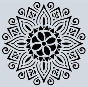 Hot Arts Craft 32 стили 15 * 15см Mandala трафареты DIY украшения дома рисунок лазерный шаблон вырезать на стене Трафарет Картина для древесины Плитка Ткань