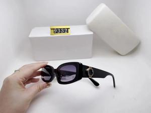 2020 Lüks Desinger Kare Güneş gözlüğü Kadınlar Erkekler Moda Aksesuar Yüksek Kalite VE9332 için Damga UV400 Full Frame güneş gözlüğü ile