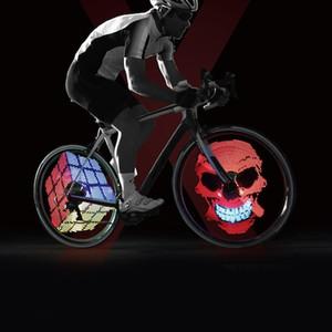 Xuanwheel x1 renkli bisiklet tekerleği ışık konuştu