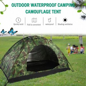 2020 dobrável Plus Size Tent impermeável anti UV Heave Up Tent exterior Camouflage impressão Camping Caminhadas Montanhismo h2GS #