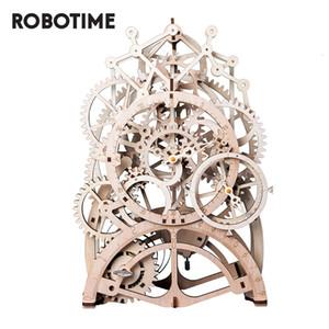 Robotime ROKR DIY 3D لغز خشبي ألعاب تركيب الجمعية hanical والعتاد محرك لعب هدية للأطفال الكبار مراهقون