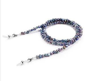 Naturale Eleglant donne d'acqua dolce perla Occhiali / Occhiali da sole 70 centimetri catena Enviromental No-stimolazione perlato decorazione lustro antiscivolo chai
