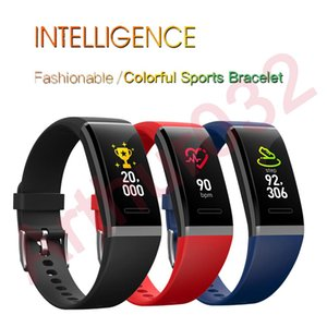 Pressão cgjxs V11 Colorful inteligente Pulseira Sports Pulseira Heart Rate Monitor Sangue de Fitness Rastreador Banda Intelligent Smartband
