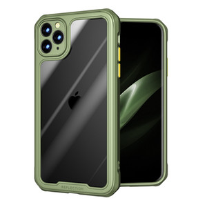 Acrilico trasparente TPU PC gasbag antiurto Custodia per iPhone 12 11 Pro Max XR XS MAX 7 8 caso glassata di TPU telefono bordo