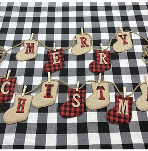 2020 Merry Christmas Letter String Banner Indoor and Outdoor Decorations Christmas Tree Ornaments XD21039 DHL Free Shipping