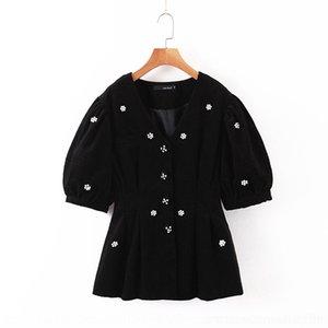 MDZNf veludo artesanal frisado manga bolha top elegante + alta saia elástica Jacket frisada Wick Wick emagrecimento terno de saia cintura