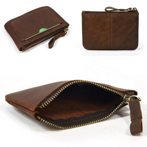 Fashion Genuine Leather Handbags Coin Purses Retro Cowhide Square Classic Wallet Card Key Small Container Hot Sale 19lf C2