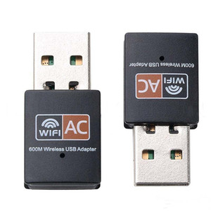 600Mbps Adaptateur WiFi USB bi-bande 2,4 GHz / 5 GHz RTL8811CU sans fil wifi dongle Mini Lan 600M Wi-Fi 802.11ac Adaptateurs Ethernet Récepteur MQ100