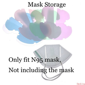 Mask Storage Box Face Mask Keeper Plastic PP Sheet Holder Mouth Clip Folding Case Folder Bag Protective Organizer Anti Dust Portable Colors