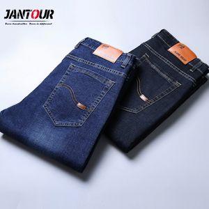 Jeans Menores Classic High Calidad Marca de gran tamaño Jean Slim Slim Design Pantalones Pantalones Biker Ajuste Negro Pantalón Regular Masculino