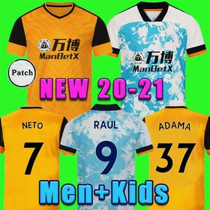 2020 bambini jersey Lupi di calcio kit di casa gialla J.MOUTINHO RAUL NEVES Podence magliette di calcio Dendoncker ADAMA Lupi calcio uniformi 20/21