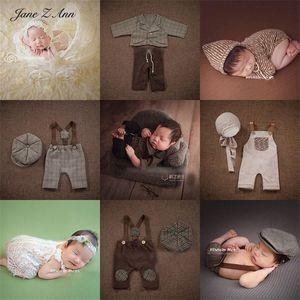 Jane Z Ann Newborn Photo Baby Photography Lace Skirt Western clothing European style Vest pants hat clothes props Elhc#