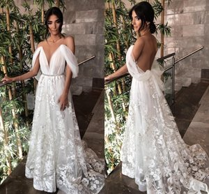 Setwell Jewel Sheer Neck A-line Wedding Dresses Sleeveless See Through Sexy Backless Lace Appliques Floor Length Bridal Gowns
