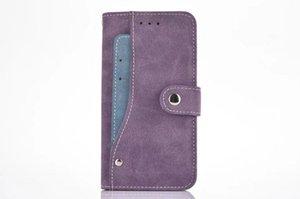 Cgjxssided Kart Sahibi Manyetik Flip Book Standı Lüks Deri Cüzdan Kılıf için Iphone X