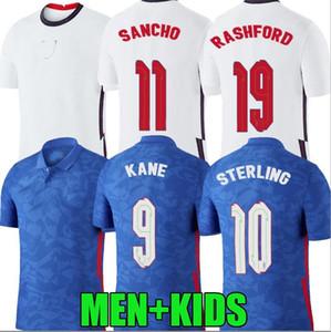 2020 2021 Inglaterra Jerseys de futebol 20 21 Kane Sterling Sancho Rashford Dele Inglaterra Camisetas de Fútbol Men Kids Football Shirts