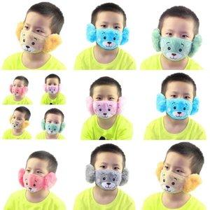Masken Ewinexpress Masken Bär Von Abdeckung A Muster Staub Kinder 2020 Grau nette Give 169 Plüsch Maske Cartoon-und Winter-Warm Rosa UAuyl