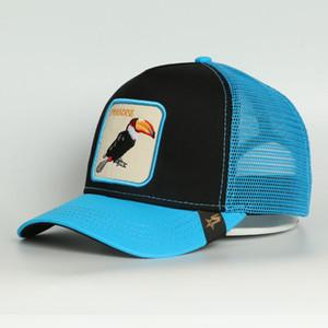 Ossa De Beisebol animali di alta qualità Camouflage LIBERTA protezione di Sun PARADISO TOUCAN GOLDEN ricamo camionista maglia cappello gorra