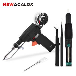 NEWACALOX 60W EU / US Автоматически Отправить Tin Gun Регулируемая температура паяльник Ручной паяльная станция внутреннего отопления