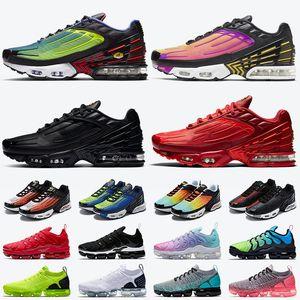nike ayakkabı air max plus 3 tn 3 airmax tn plus Tuned air vapormax erkek koşu ayakkabıları boyutu 13 Hiper Menekşe Siyah Kırmızı erkek eğitmenler kadın spor ayakkabı