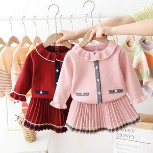 HYLKIDHUOSE Bebés Meninas Vestuário Define Costume Crianças Outono Inverno Feminino Princesa Jumpers saia crianças roupa ocasional