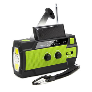 2020 Emergency Radio Solar USB Battery Hand Crank Powered Radio AM FM WB 4000mA Power Bank IPX3 Waterproof