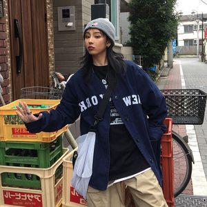 FCdO4 Amerikan Sen işlemeli giysiler kadın gevşek Sonbahar Harajuku elbise ceket ceket Yeni işe bir yolculuk Work kampüs Take