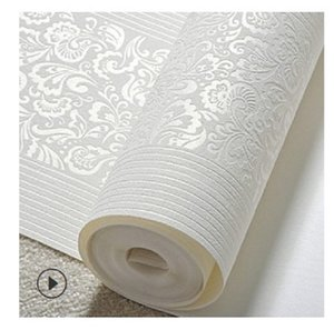 2020 hot sale Self adhesive European 3D vertical stripe thickened non-woven wallpaper warm bedroom living room background wall self-adhesive