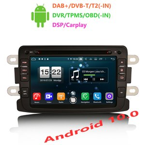 "Erisin ES8783D 7"" Android 10.0 Octa Core 4GB RAM Car DVD Player DSP Carplay for Dacia Duster Logan Dokker Lodgy"