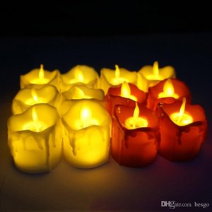 LED Flameless Candle Tea Light Pillar Candle Tealight Battery Operate Candle Lamp Wedding Birthday Party Christmas Decoration VT1722