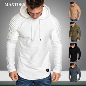 Men Hoodies Fleece Casual New Brand Hooded Sweatshirts Solid Mens Sportswear Hip Hop Hoody Pullover Autumn Mens Jogger Hoodies
