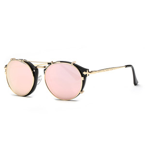 Time-Limited New Arrivals Fashion Sale retro dual-use sets of mirror plain mirror unisex sunglasses lovers sunglasses D Street home shooting