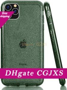 Sağlam Hibrit Yumuşak TPU Sert Pc Glitter Parlak Darbeye Temizle Telefon Kılıfı için Iphone X Xr Xs Max 11 11 Pro Max Premium Kalite