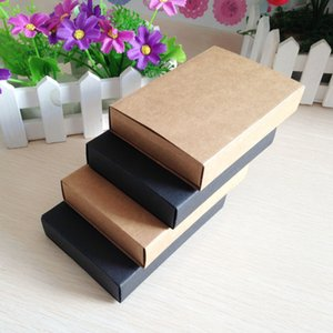 2020 Hot Kraft / Preto Gaveta Caixa Handmade Soap presente Craft Jewel Macaron embalagem caixas de papel 50pcs / lot 6,8 * 10,4 centímetros / 11.5x8cm
