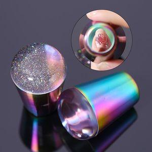 Colorido Nail Art Stamper Titanium Nail Stamping Impressão Manicure Arte Gradiente Stamper Ferramenta Nail Art Makeup Styling Tools Estampador de Unas