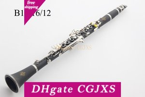 Alta calidad Buffet B12 B16 B18 baquelita Bb Clarinet Tune 17 teclas clarinete Sib con el caso de accesorios Instrumentos de envío