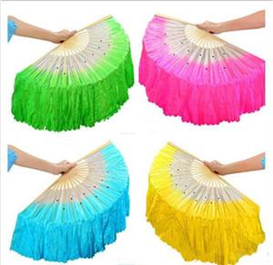 Hot Festive Chinese silk dance fan Handmade fans Belly Dancing props 5 colors