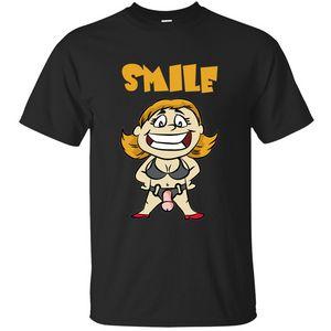 Özelleştirme Komik Gülümseme Strapon Sahiplik Dildo Pegging Aldatılan Alt Tişört 2020 Resimleri Siyah Tee Gömlek Kırışıklık Karşıtı Gevşek