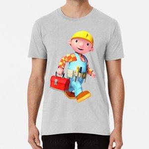 Bob der Baumeister-T-Shirt Bob der Baumeister Können wir Fix It Bob Builder Toolbox Traktor Comic Spiel Spiele Old School
