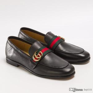 Le mocassin en cuir pour hommes avec G Web Chaussures en cuir pour hommes occasionnels 428609 de D3VN0 1060 Fashion Chaussures en cuir véritable Top Taille Qualité