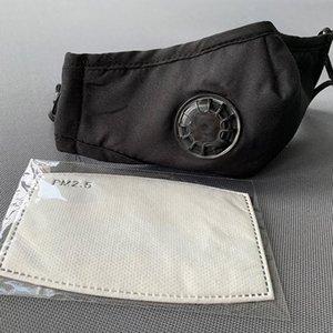 Yıkanabilir valf Maskeleri Yüz Yeniden kullanılabilir 1 karbon filtre protectiveCOTTON PEMBE SİYAH BEYAZ BAG Mascherine ile Anti-Dust PM2.5 Maske Nefes