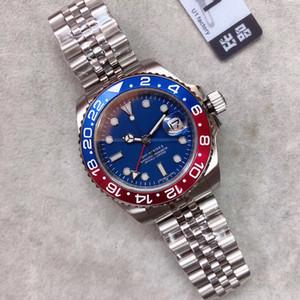U1 مصنع للرجال المعصم ساعة اليد السيراميك الحافة الأزرق الأحمر كولا الرياضة باتمان ماستر الياقوت الزجاج