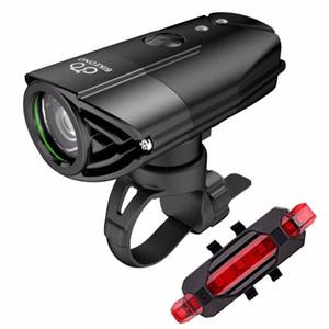 BIKEONO 1200 لومينز الدراجة الخفيفة الدراجة العلوي LED الضوء الخلفي USB قابلة للشحن MTB الدراجات فانوس لمصباح دراجة