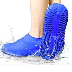 Портативный моющийся пылезащитный дождь нескользящая водонепроницаемая силиконовая обувь Чехол Пешие пробежки Дождь Ботинки дождя Крышка Галоши для детей мужчин Женщины